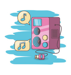 colorful music audio speaker vector image