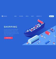 commercial conveyance landing page template vector image