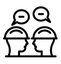 Communications engineer chat icon outline style vector