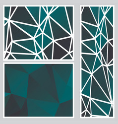 Dark polygonal banners vector