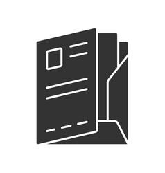 Document folder paper case glyph icon office work vector