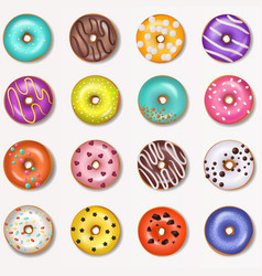Donut doughnut food and glazed sweet vector