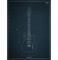 Electric guitar blueprint vector
