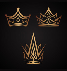 elegance crown vector image