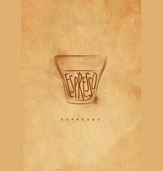 Espresso cup craft vector
