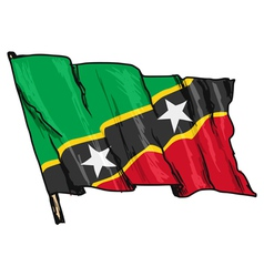 Flag of Saint Kitts and Nevis vector