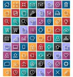 Flat Line Icons vector