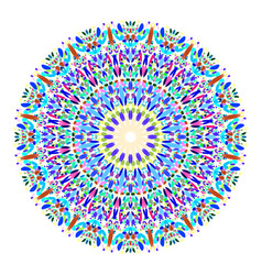 Floral mandala - abstract graphic design vector