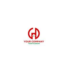 gd home logo design vector image