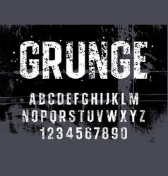 grunge alphabet 014 vector image