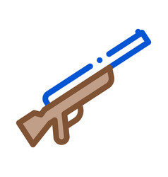 gun icon outline vector image
