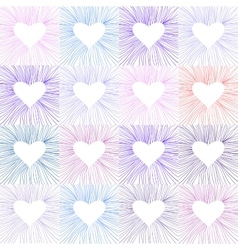 Heart transparent pattern background vector image