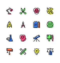 Icons of creativity vector