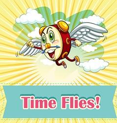 Idiom saying time flies vector