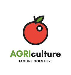 Isolated agriculture logo on white background vector