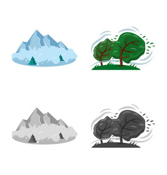 Isolated object of natural and disaster symbol vector