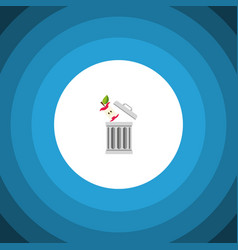 isolated trash flat icon bin element can vector image
