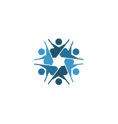 Jewish community logo template with human icon vector