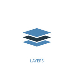 layers concept 2 colored icon simple blue element vector image