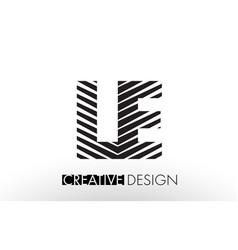 Le l e lines letter design with creative elegant vector