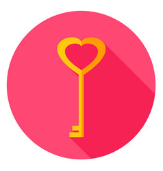 love key circle icon vector image vector image
