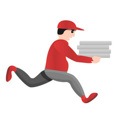 Man pizza delivery icon cartoon style vector