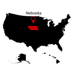 map of the us state of nebraska vector image