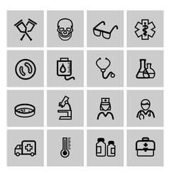Medicine Heath Care icons vector image