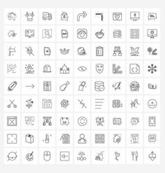 Modern line 81 simple line icons arrow sale vector