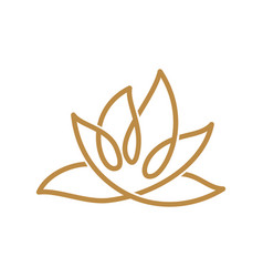 Nature spa logo abstract leaf template isolated vector