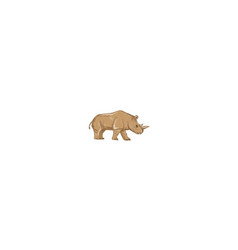 Northern white rhinoceros side drawing vector