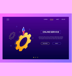 online service - modern isometric web vector image