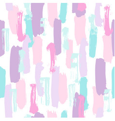 pastel color paint brush strokes vector image
