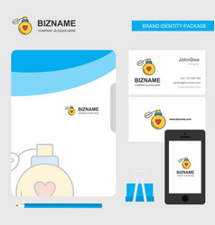 perfume business logo file cover visiting card vector image