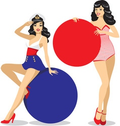 Pinup girls vector