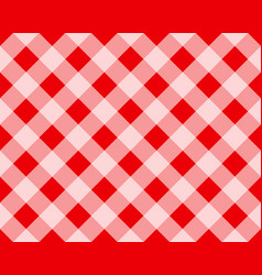 plaid pattern in red and white repeatable vector image