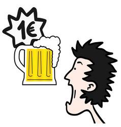 Price beer vector