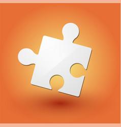 Puzzle piece on orange background vector