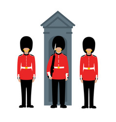 queens guard flat style vector image