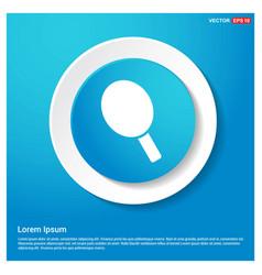 Racket icon abstract blue web sticker button vector