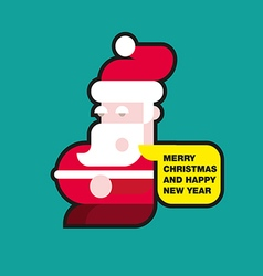 Santa Claus colorful flat vector image