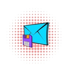 Save e-mail icon pop-art style vector