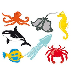 Sea Life with Fish vector image vector image