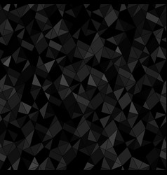 Seamless geometric black background abstract vector