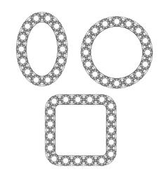 Set of Circle Decorative Frames vector image