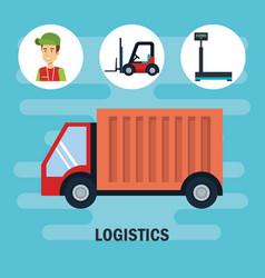 Shipping logistics design vector