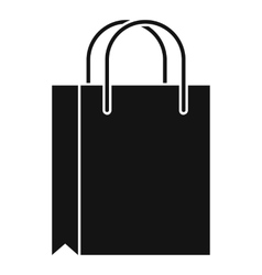 Shopping bag icon simple style vector