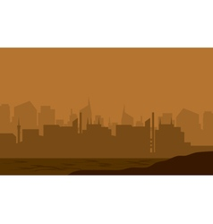 Silhouette of the city in the desert vector