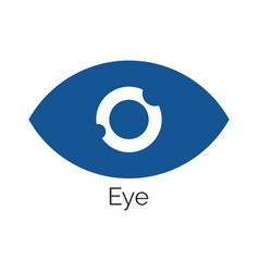 simple eye icon in blue vector image