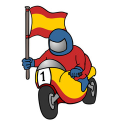 spanish motorcycle vector image